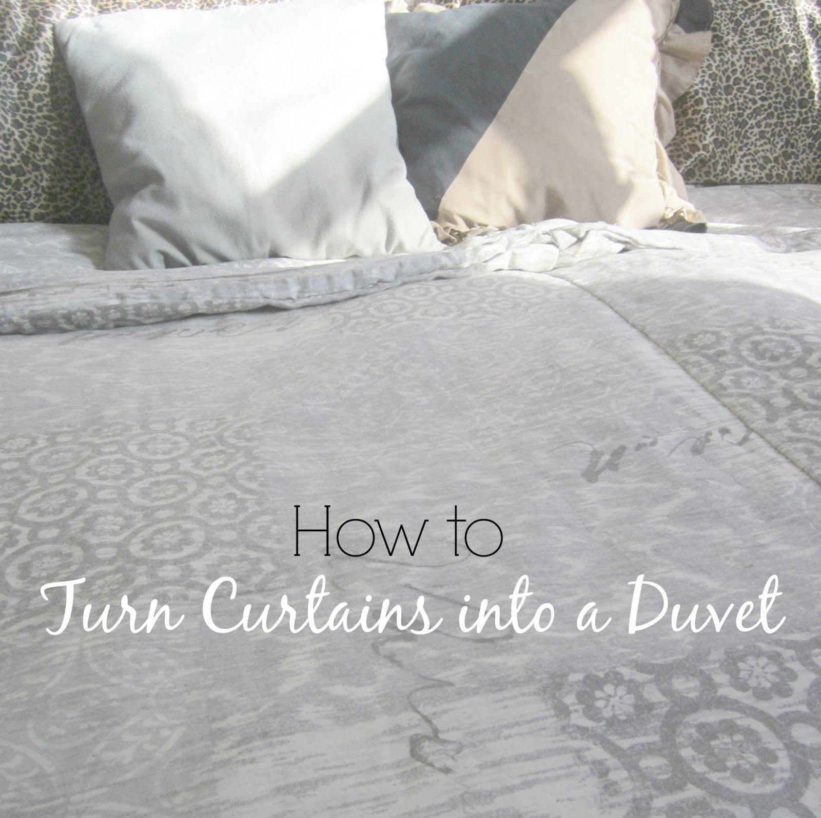 How To Turn Curtains Into A Duvet What Cool Idea Recycle Some Something Else Useful Diy