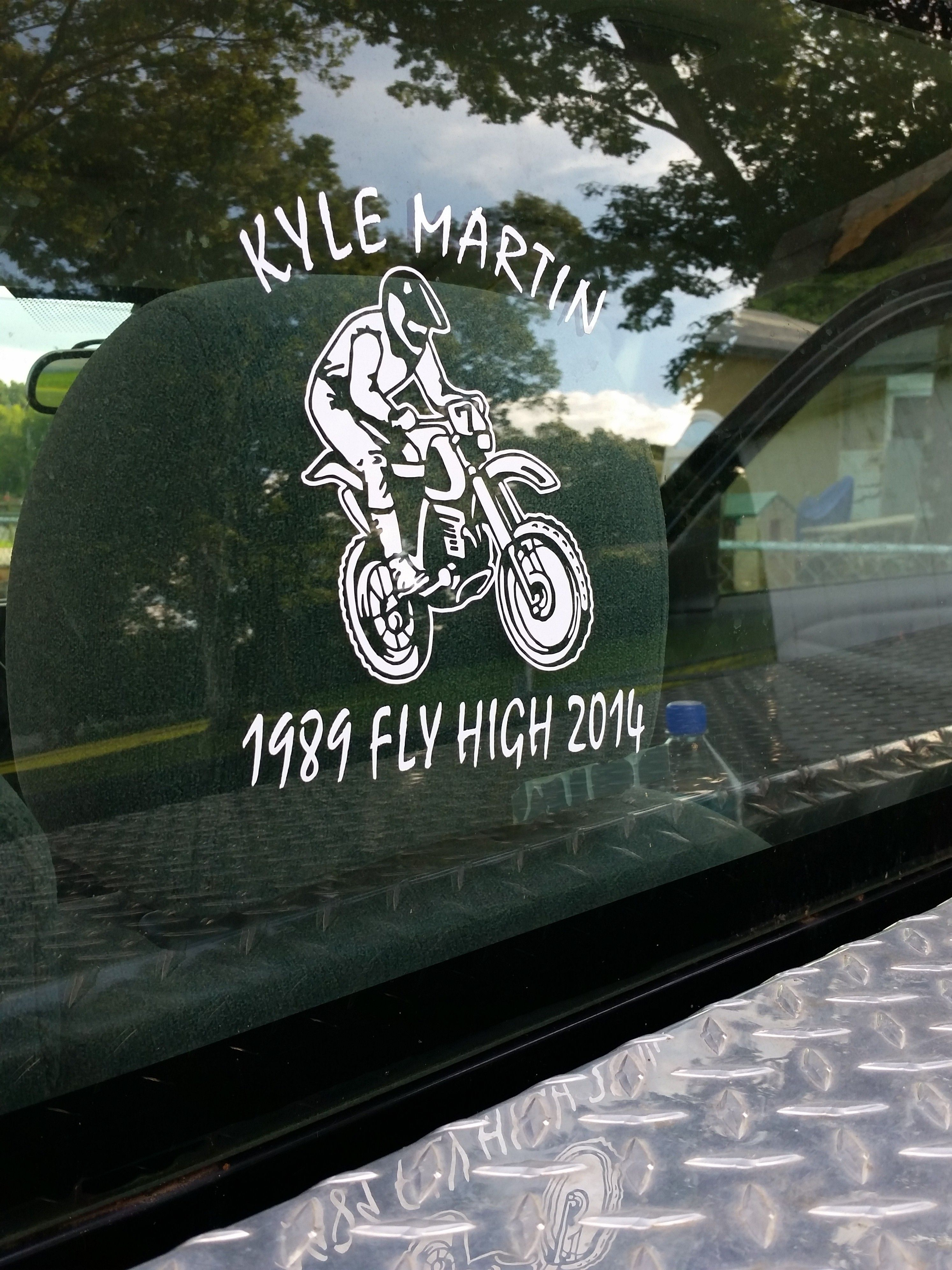 Make stickers for your car - Motocross Supercross Dirt Bike Rider Vinyl Stickers Add Your Own Text To Personalize And Make