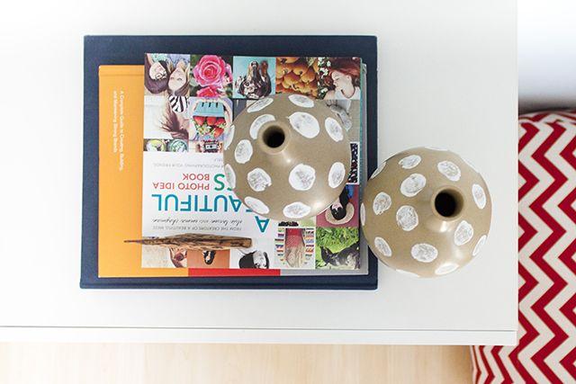 DIY potato stamped vases   justaddsparkles.com