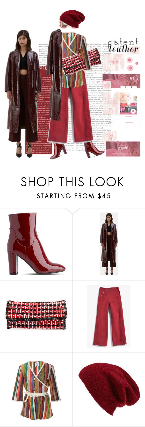 """""""City Slicker"""" by peeweevaaz ❤ liked on Polyvore featuring L.K.Bennett, CC, Balenciaga, Rachel Comey, Rosie Assoulin, Halogen, outfit, patentleather, polyvoreeditorial and polyvorefashion"""