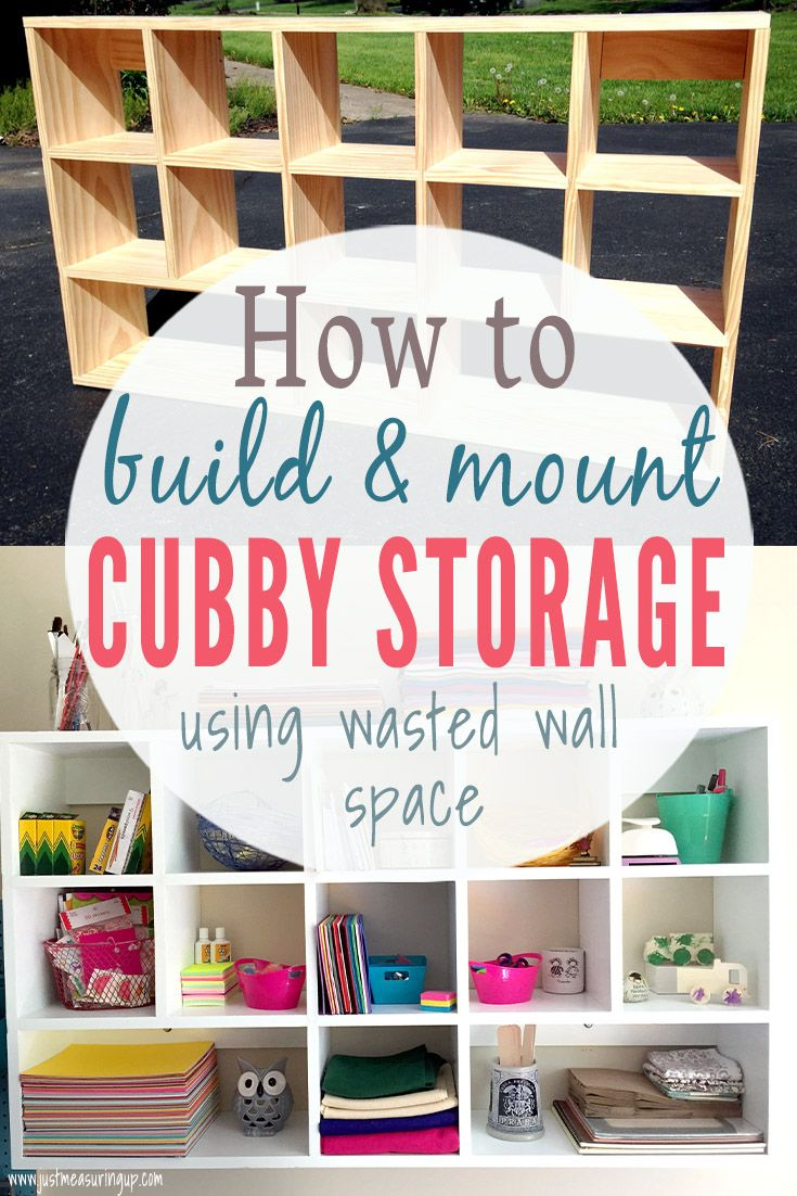 How to Build DIY Cubby Shelves that Mount images