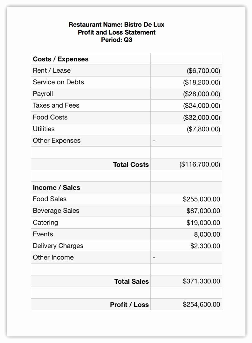 Profit And Loss Projection Template Fresh Business Plan Profit And Loss Template Plans Understa In 2020 Profit And Loss Statement Financial Statement Business Planning