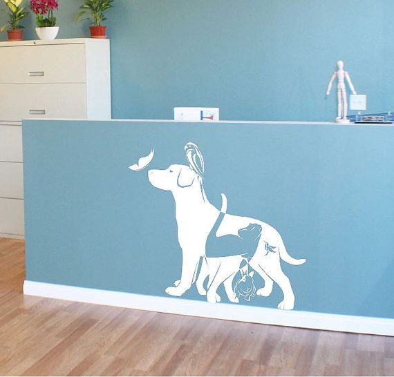 Pets Animal Wall Decals Wall Art Veterinary Clinic Decor Animal Wall Decals Animal Room Decal Wall Art