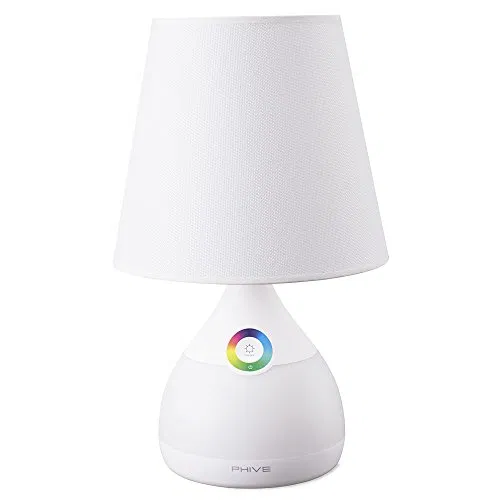 Phive Table Lamp For Bedroom Living Room Dimmable Led Bedside Lamp Touch Sensitive Control 2 In 1 Warm White Light Color Changing Rgb Mood Light Nightlight Table Lamps For Bedroom Table Lamp Dimmable Led