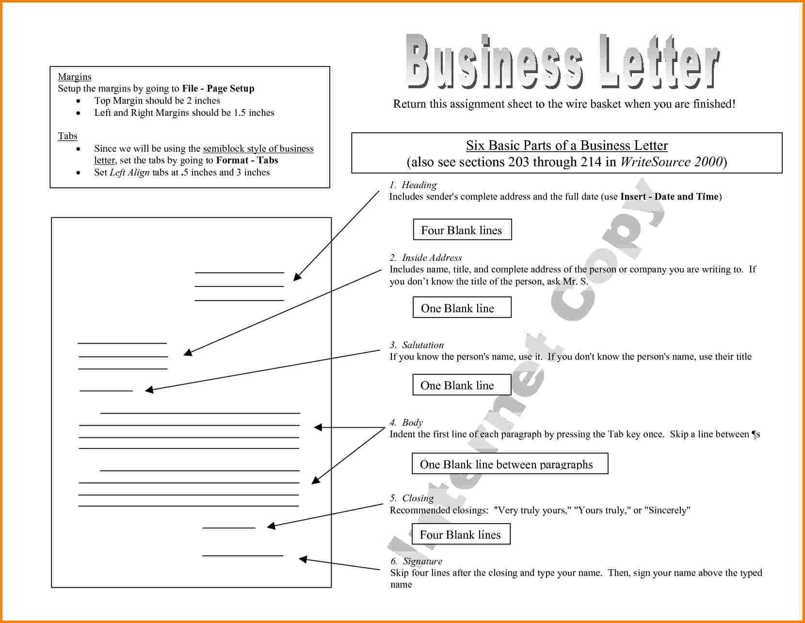 Business Letter Quote Templates Regarding Parts Components