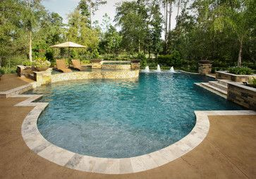 The Mix Eclectic Pool Houston By Marquise Pools Swimming Pool Builder Backyard Pool Designs Pool Water Features