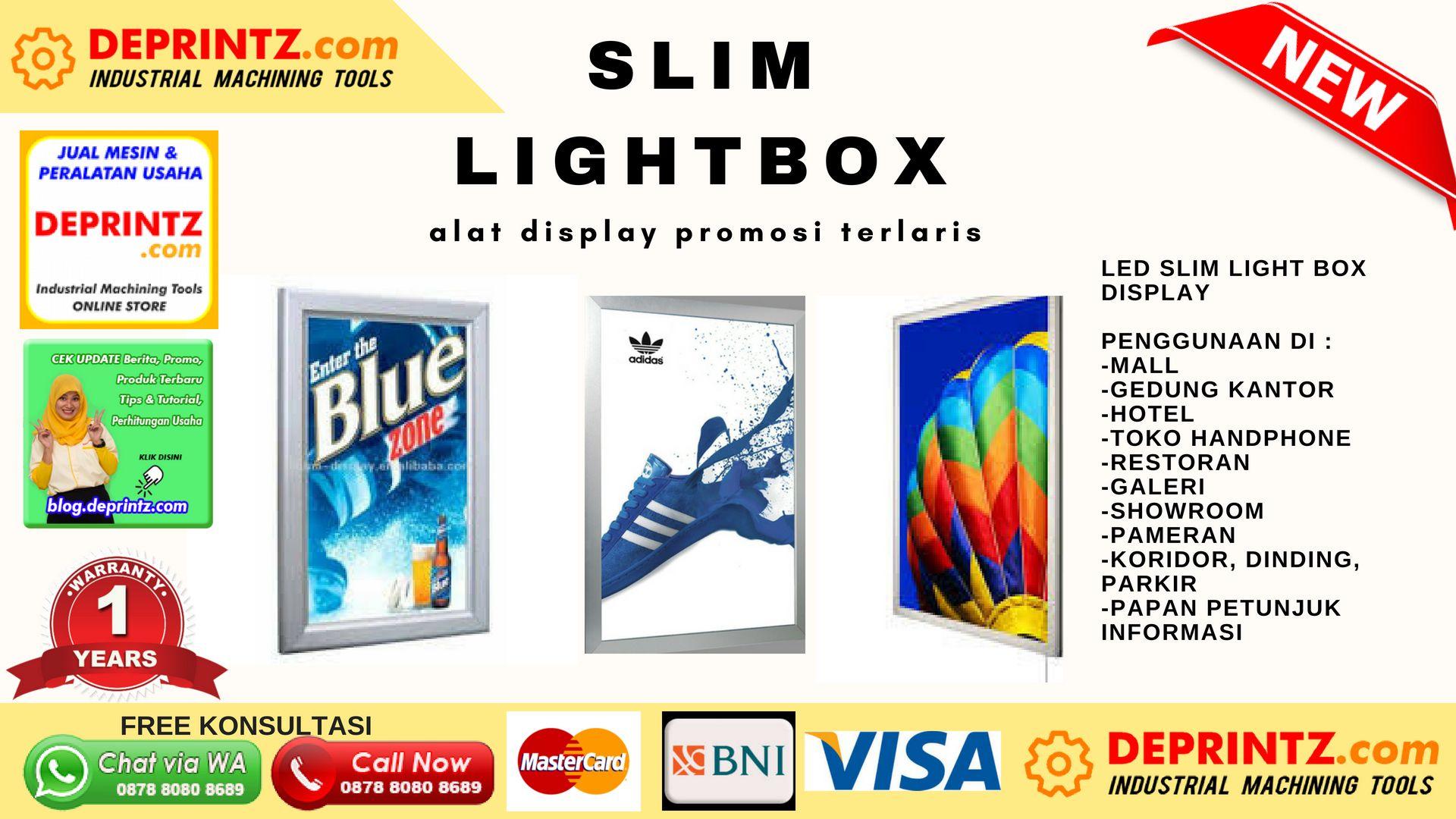 Slim Light Box Murah Sebuah Media Panel Datar Seperti Pigura