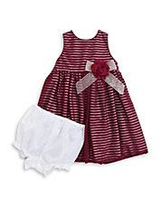 Burnout Stripe Dress with Bloomers