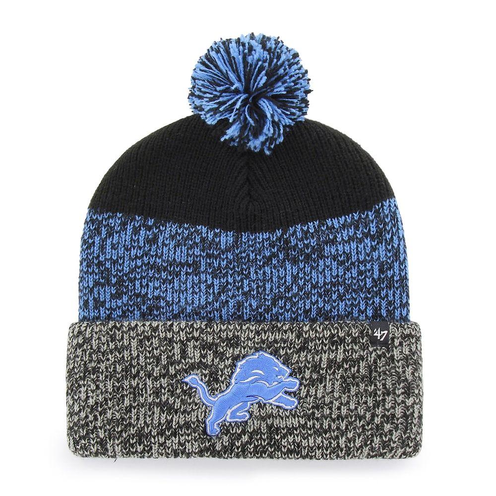 88ece544a0279 Adult  47 Brand Detroit Lions Static Cuff Knit Hat
