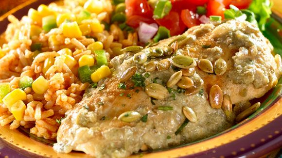 Pollo en Pipian Verde  Must try for a fall dish!!