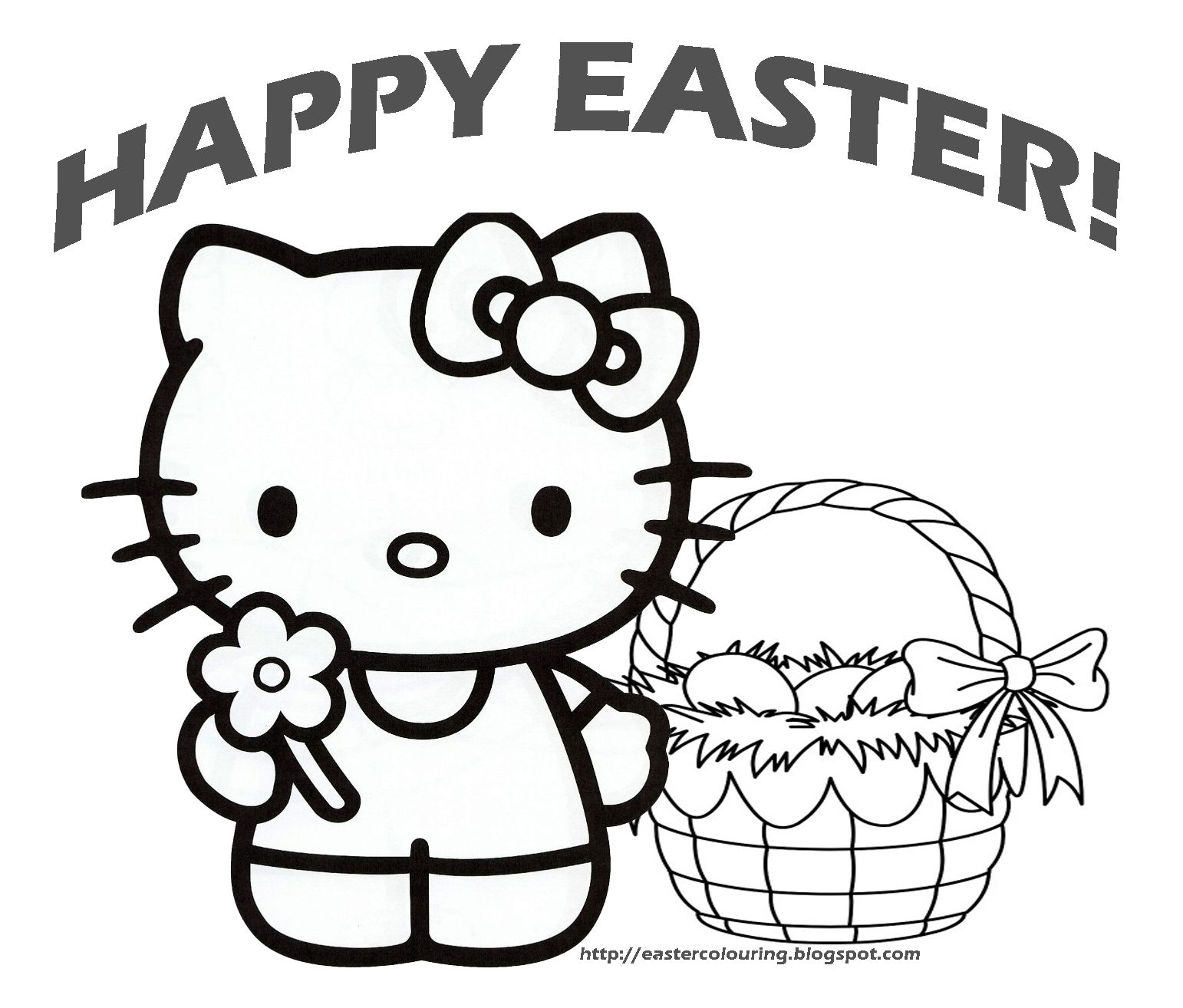 We Are Sharing The Best Hello Kitty Easter Coloring Pages Images