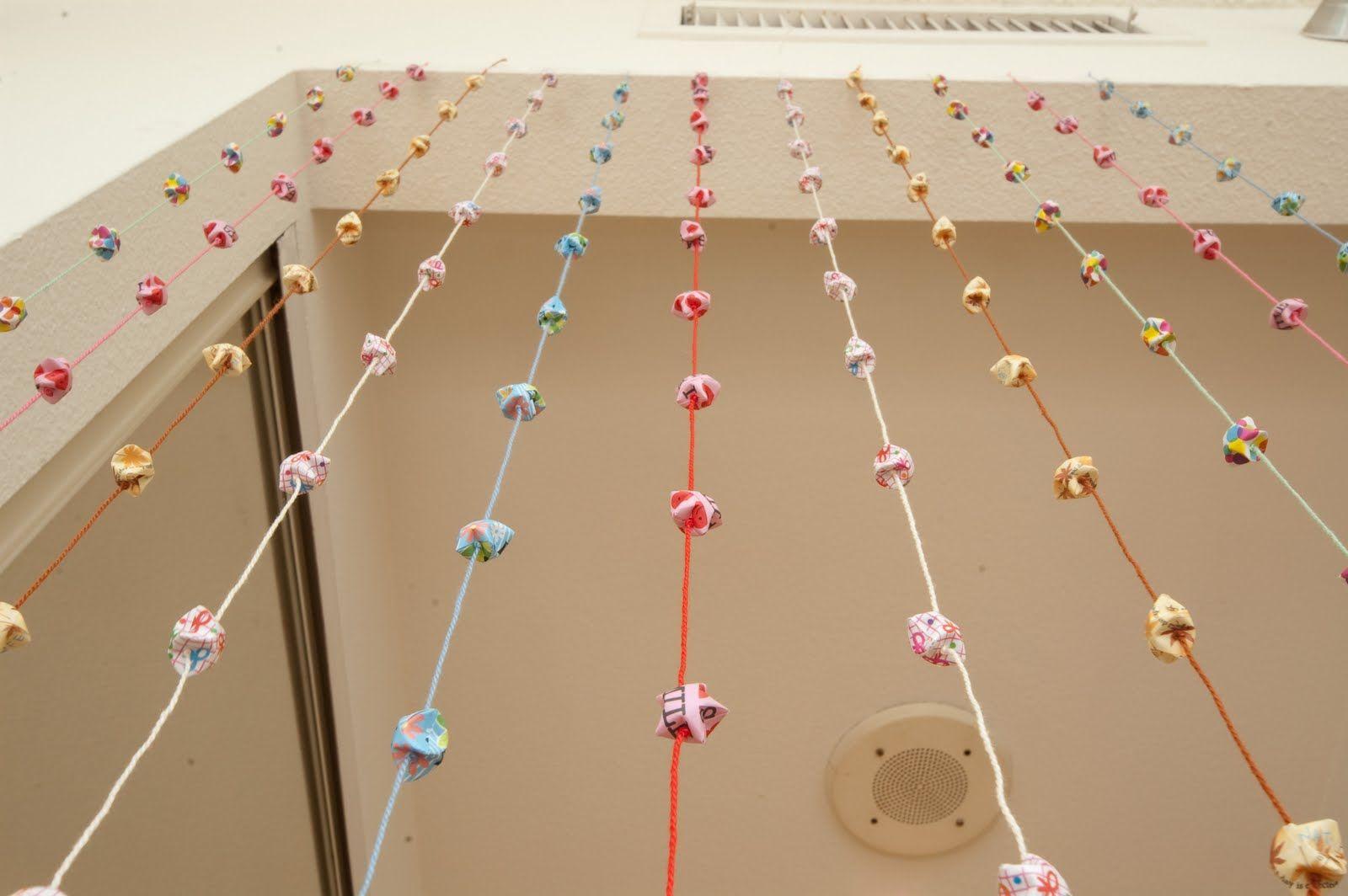 meowmiix: Origami Stars Door Curtain DIY | DIY, Crafts ... - photo#11