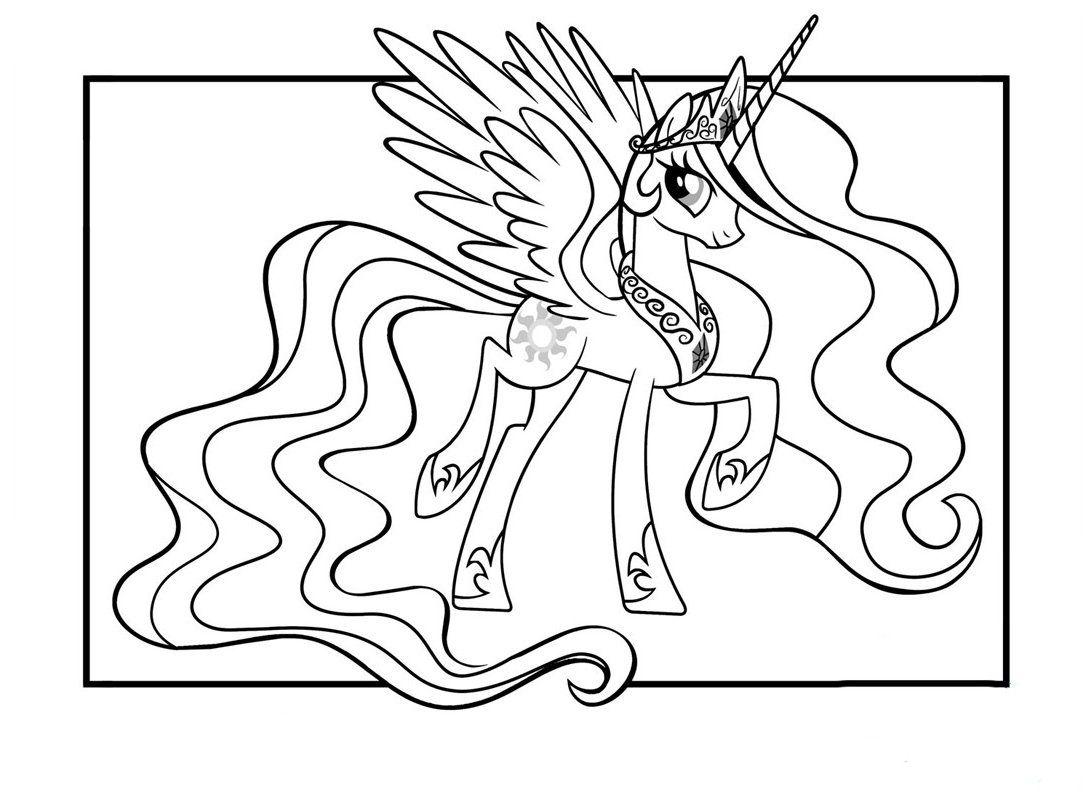 Coloriage My Little Pony | Coloriage princesse, Coloriage, Licorne coloriage