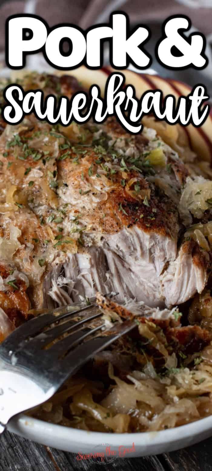 Oven Roasted Pork and Sauerkraut Recipe