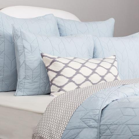 Light Blue Chevron Quilt Sham Standard Pair Blue Bed Sheets Light Blue Bedding Chevron Bedding