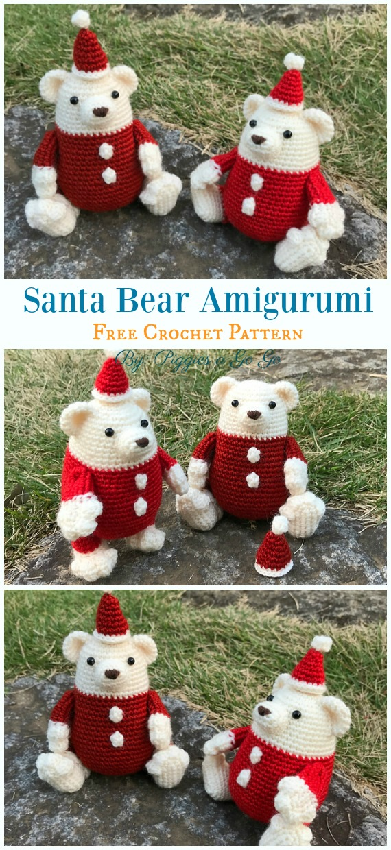 Free Amigurumi Bear Toy Softies Crochet Patterns #beartoy