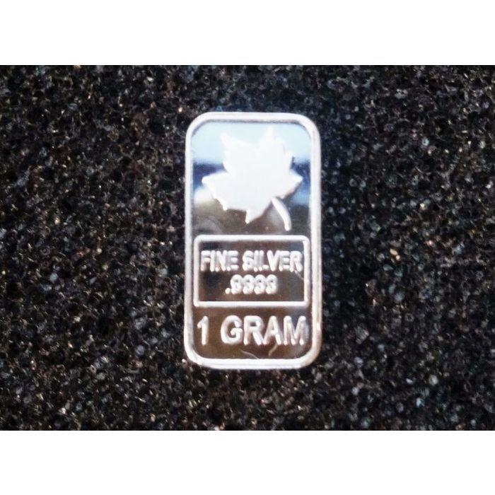 1 Gram 999 Fine Pure Silver Bullion Bar Canadian Maple Leaf Gold Bullion Coins Buy Gold And Silver Silver Bullion
