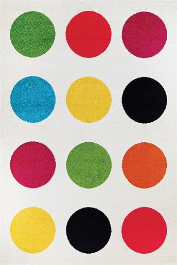 Couristan Spectrum Polka Rugs | Rugs Direct