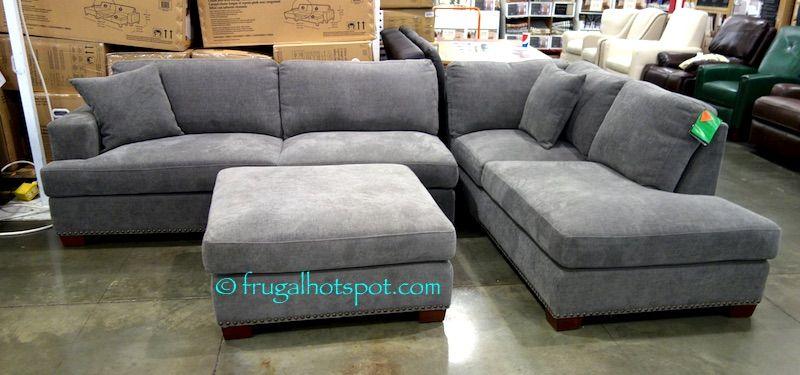 Costco Bainbridge 3 Pc Fabric Sectional 899 99 Grey Sectional