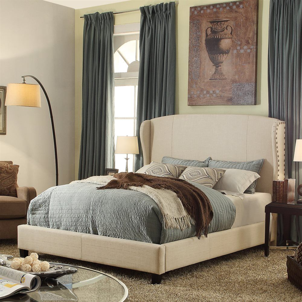 Shop Alton Furniture  A21R731 Chavelle Linen Upholstered Platform Bed at ATG Stores. Browse our beds, all with free shipping and best price guaranteed.