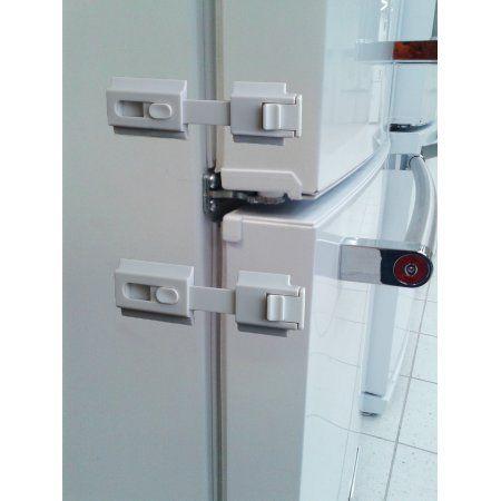 The Guardian Refrigerator Lock-White, White   Refrigerator lock ...