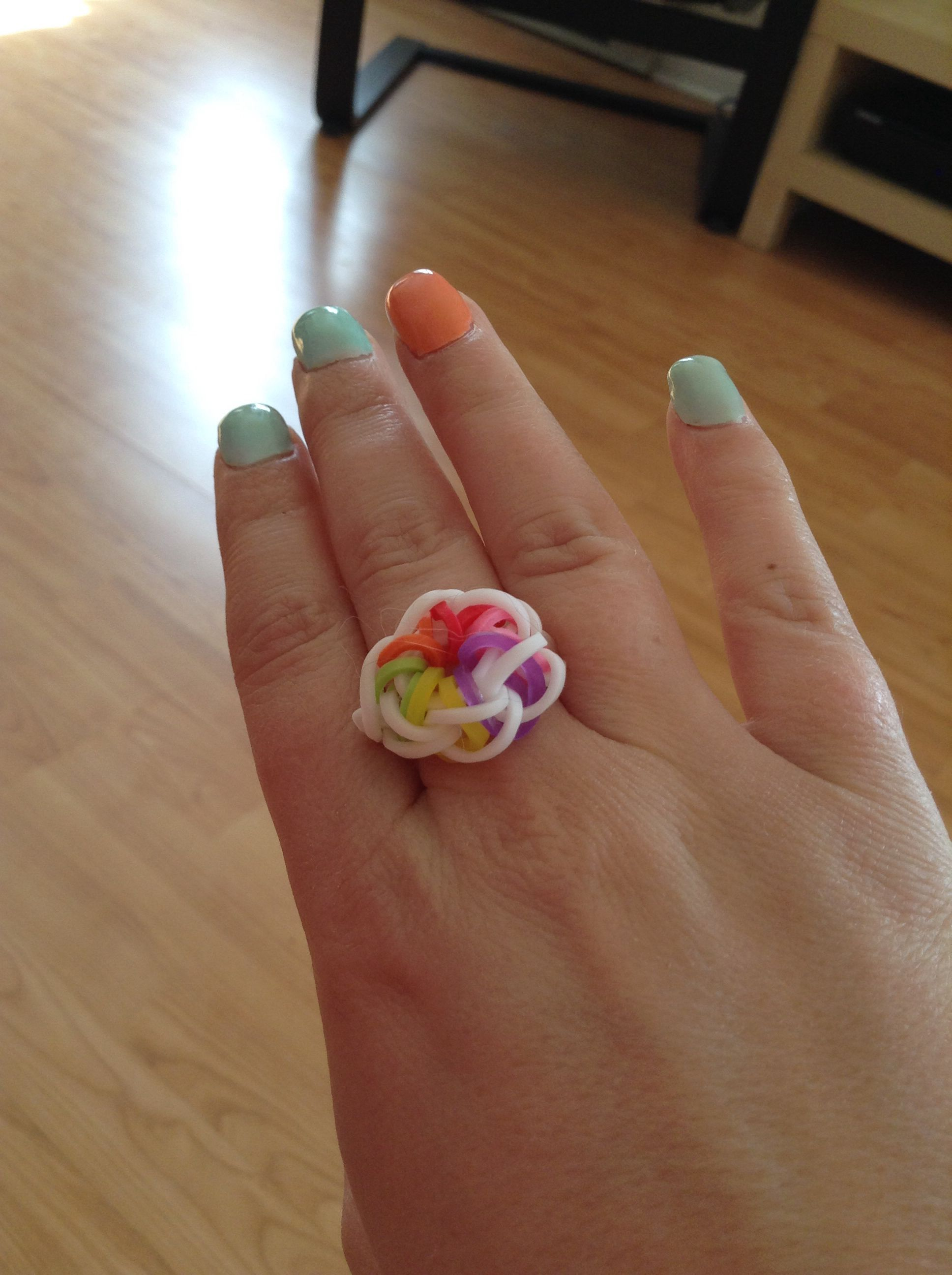 Rainbow Loom Ring Flower Kaitlyn Rose Board Rainbow Loom