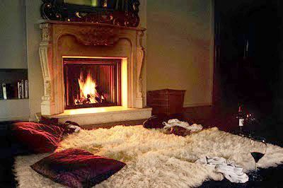 Ella S Fireplace And A White Bearskin Rug Upon Which I Would Cuddle Watch The Fire Playing With Burning Wood