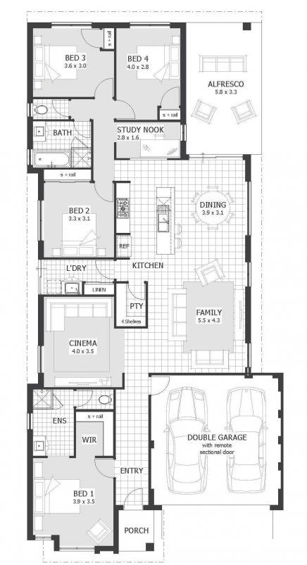 1873 Sq Ft Ascot Floor Plan 4 2 W Study Nook And Cinema I D Prefer 4 2 W Larger Study Instead Of The Cinema Deta House Plans Floor Plans Floor Plan Layout