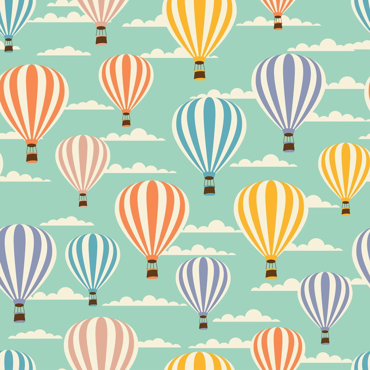 Float Away Graphic Art Air balloon, Balloon curtains