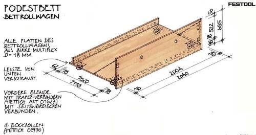 podestbett bauanleitung mit bauskizze schlafzimmer deko podestbett. Black Bedroom Furniture Sets. Home Design Ideas