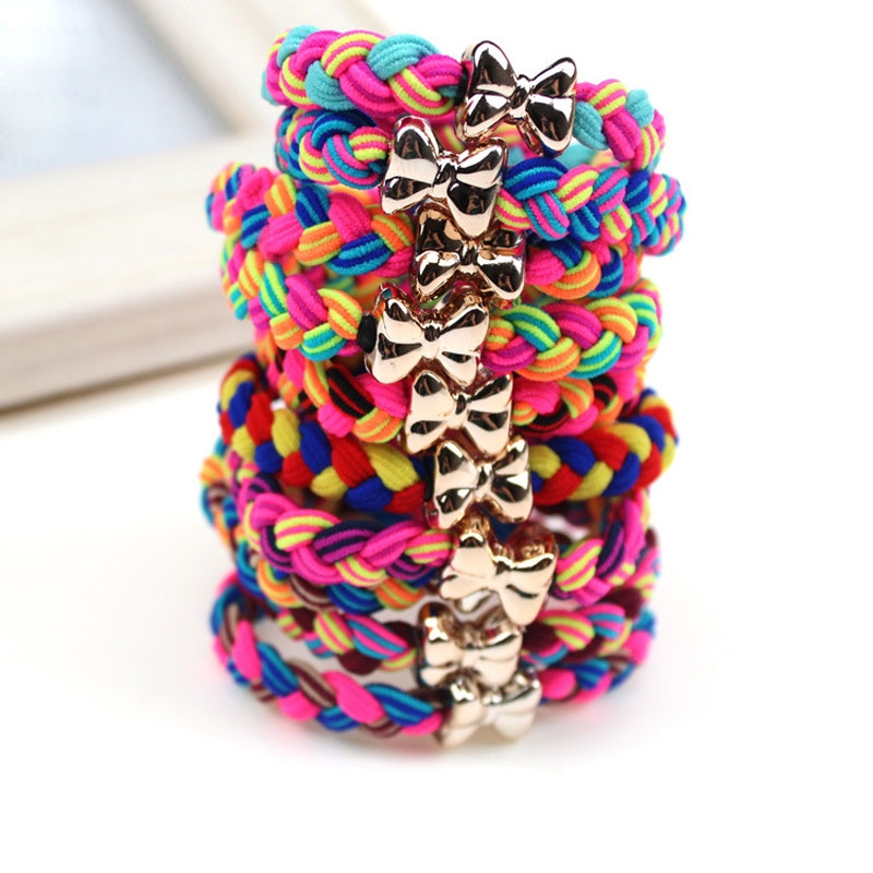 0.91$  Watch here - http://alig3w.shopchina.info/go.php?t=32787530037 - 5Pcs Elastic Bands Colorful Braided Ultra Stretch Hair Ties Scrunchy Hair Elastic Hairbands Bowknot Headbands Hair Accessories 0.91$ #magazineonline