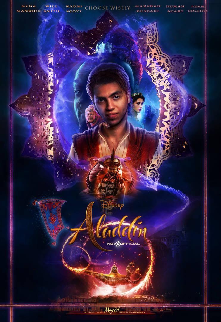 Aladdin 2019 poster by iamtherealnova on deviantart no in 2019 watch aladdin aladdin watch - Aladdin 2019 poster ...
