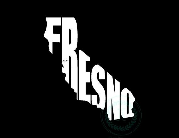 Fresno california ca vinyl decal state city cutout by jedesignshop