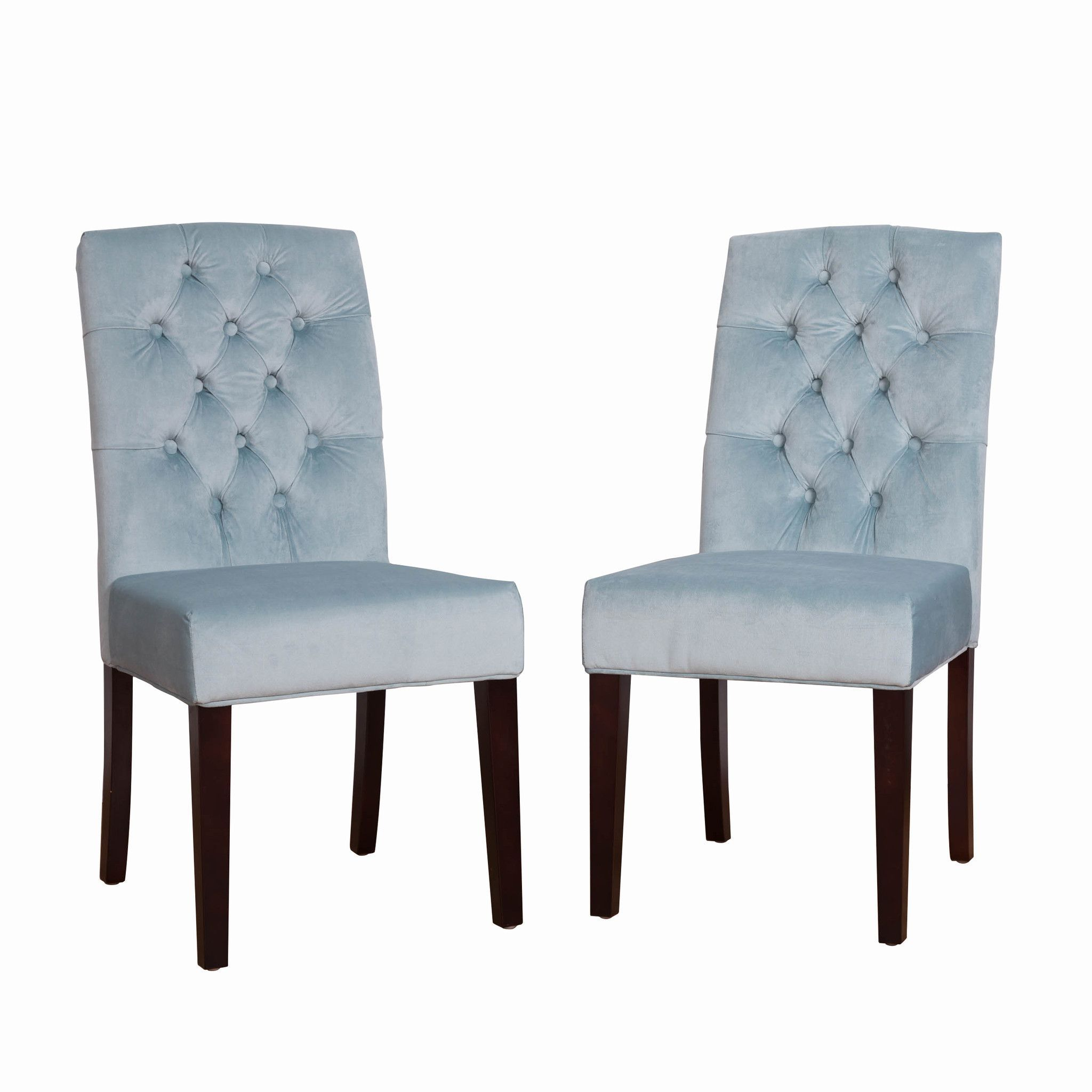 Best Bombay™ Light Blue Microfiber Dining Chair Set Set Of 2 400 x 300