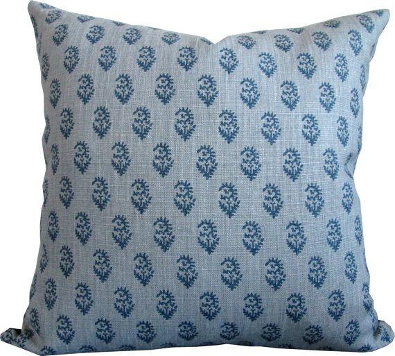 Rajmata Tonal MistIndigoHigh End Designer Decorative Pillow