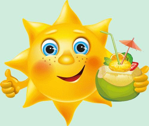 Bb soleil content avec cocktail smiley motic ne - Image smiley gratuit ...