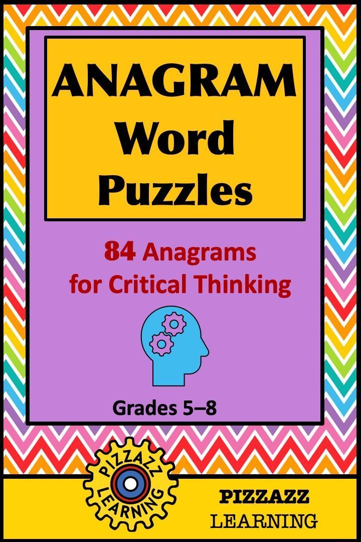 Anagram word puzzles • grades 58 in 2020 (With images