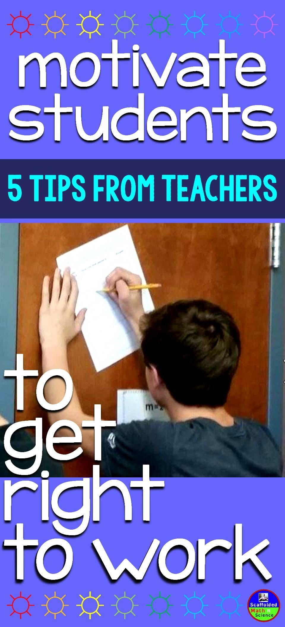 5 Ways to Get Students to SelfStart Student motivation