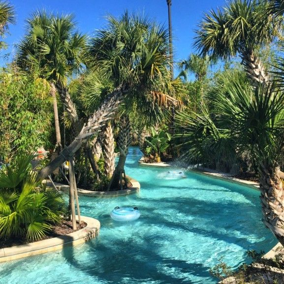 Four Seasons Orlando at Walt Disney World Review - Check out this sweet lazy river. Take me there! via @ciaobambino