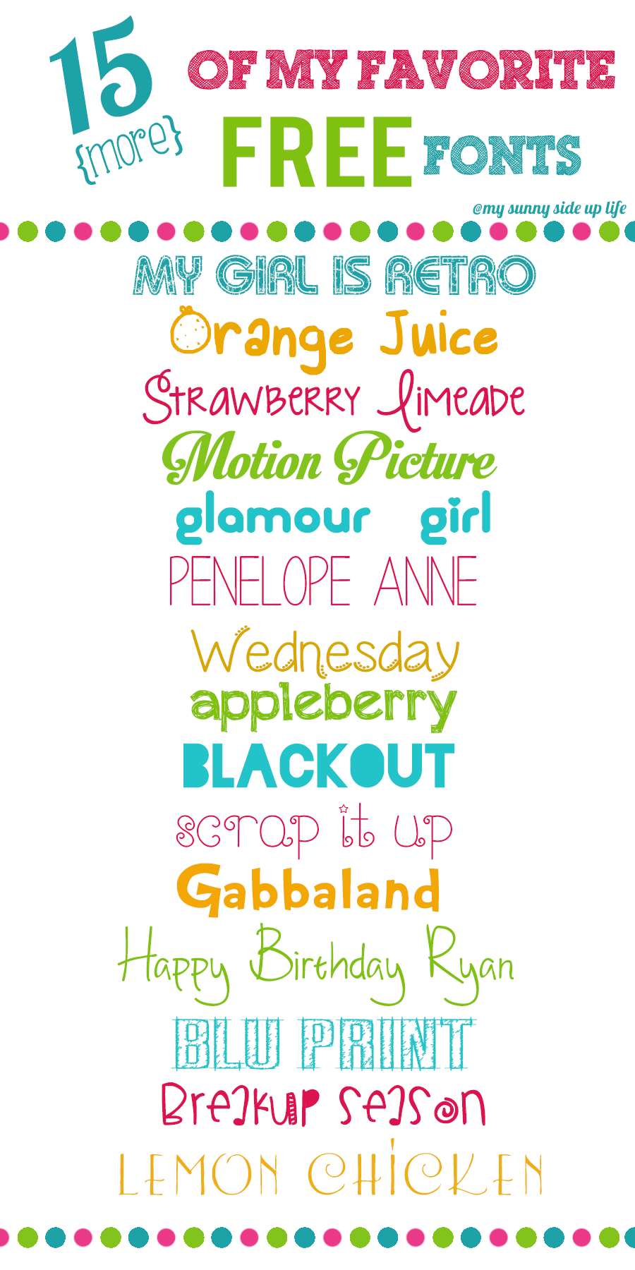 15 (more) of my favorite free fonts