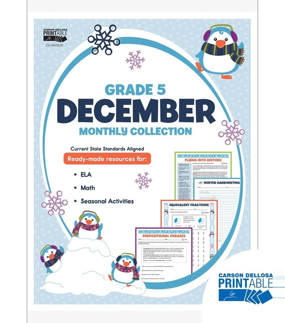 #carson #collection #december #dellosa #grade #monthly