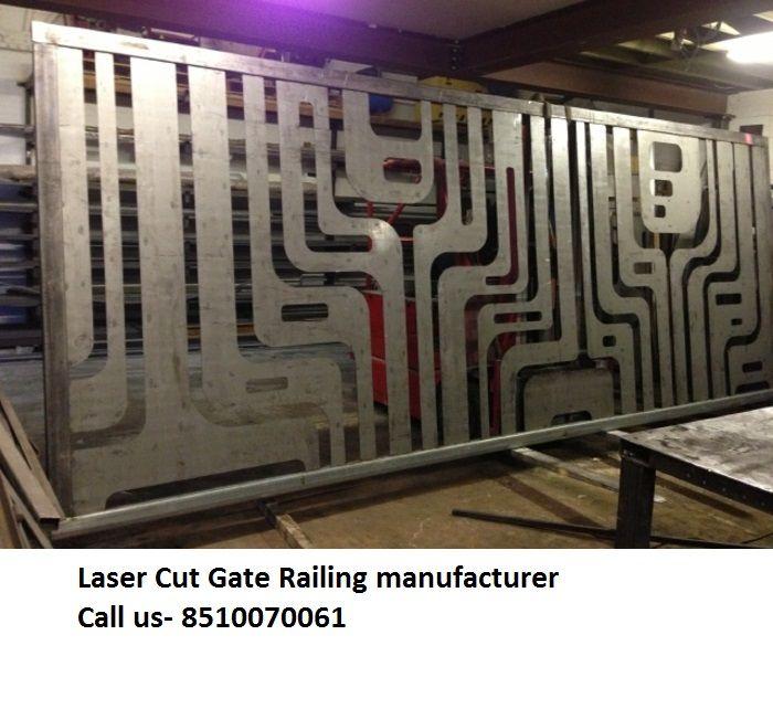 Laser cut gate railing decorative screen metal steel for Laser sur facade