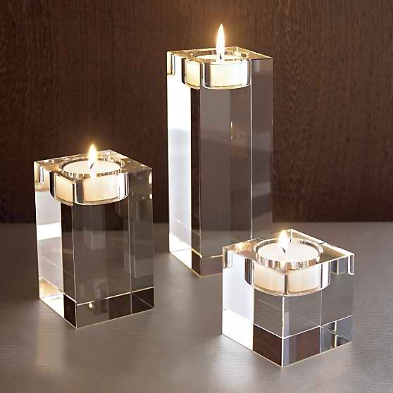 Oslo Crystal Candle Holders Crate And Barrel Crystal Candle