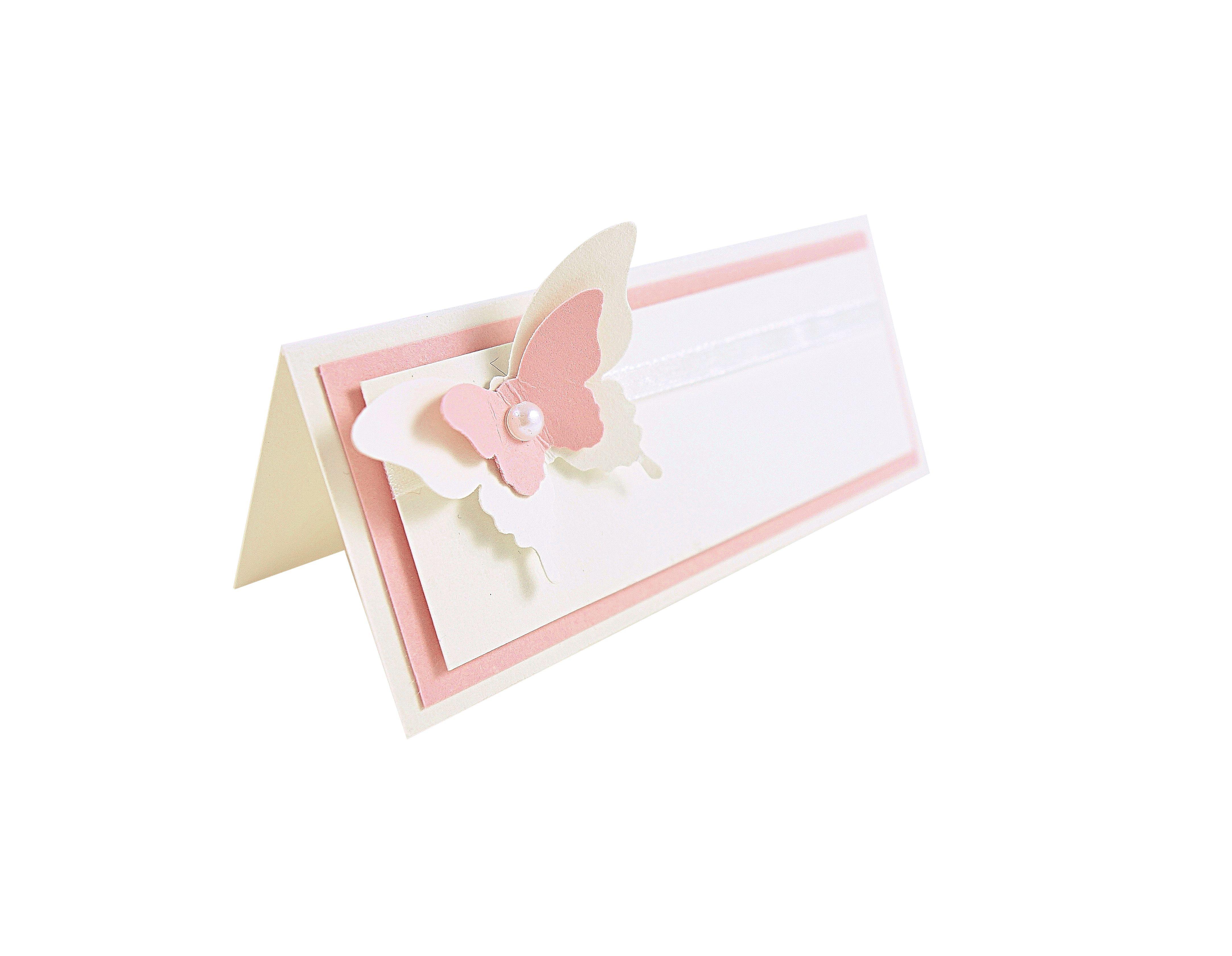 10 Stück Platzkarte Zartrosa Tischkarte Tischkarte 10,0 x 4,5 cm