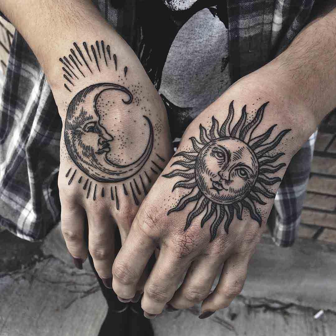 Sun Moon Tattoo | Japanese tattoo | Pinterest | Tattoos, Sun tattoos ...