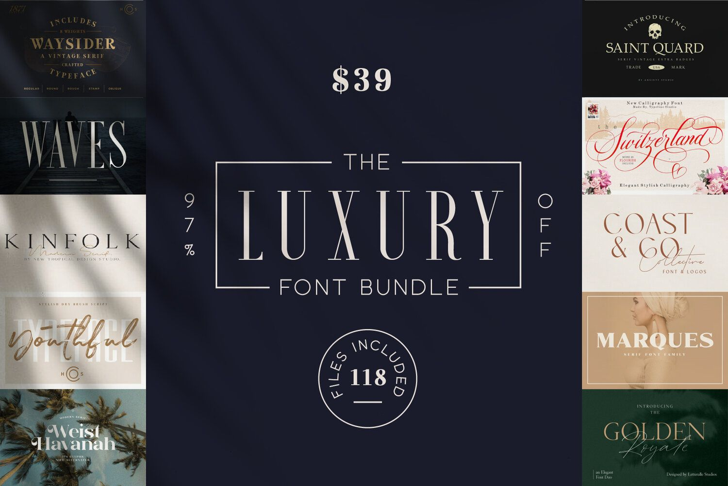 Download The Luxury Font Bundle in 2020 (With images) | Luxury font ...