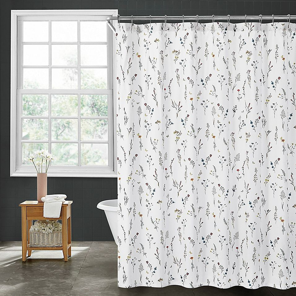"SHEER Pure White Shower Curtain Stripe Design 72/"" W x 78/"" Extra Long"