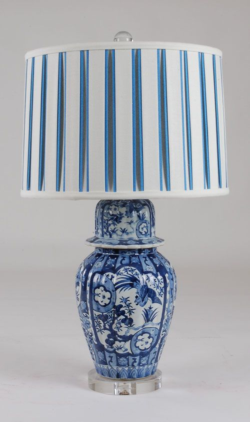 Attractive B/W Jar Lamp: Avala And Summerour Lamps
