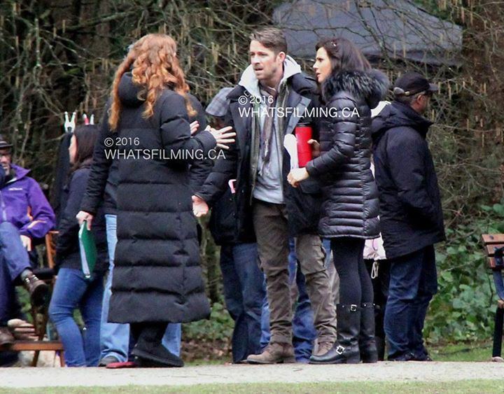 Awesome Lana Sean Rebecca (Bex) (Regina Robin Zelena) #Once #BTS Once S5 E21 #LastRites #CentralPark #Richmond or #Vancouver BC #Canada Wednesday 3-2-16
