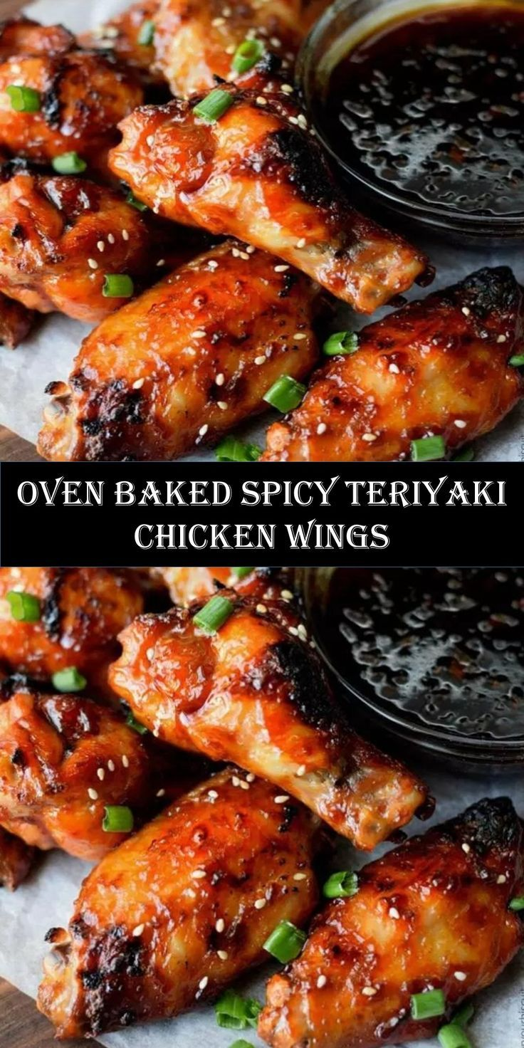 Wellcome To My Articels I Hope You Like Oven Baked Spicy Teriyaki Chicken Wings Chicken Wing Recipes Baked Chicken Wings Recipe Oven Teriyaki Chicken Wings